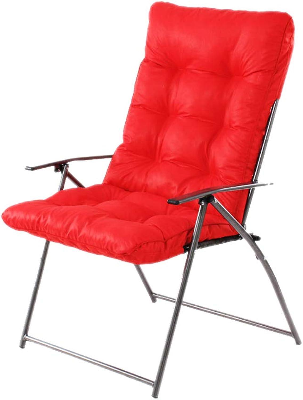 Büro Faltbare Stühle Lounge Starker Stahlmetallrahmen weich gepolsterten Stuhl und Die Matte ist abnehmbar (Farbe   G)