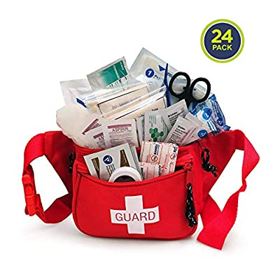 Primacare CSKB-8005 First Aid Fanny Pack, Kit Stocked with Supplies (Pack of 24) from Primacare