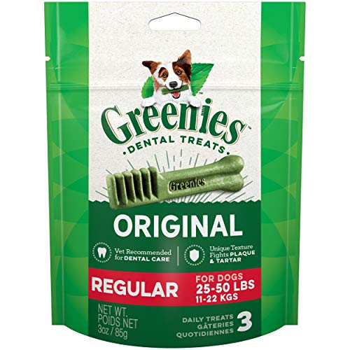Greenies Original Regular Natural Dog Dental Treats, 3 oz. Pack (3 Treats)