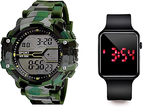 SELLORIA Army Shockproof Waterproof Digital Sports Watch for Men's Kids Sports Watch for Boys - Military Army Watch for Men,Kids