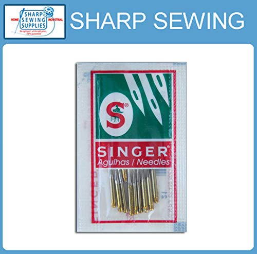 Find Bargain MACOSKI Supplies for 10 Each Singer Ball Point 2045 Gold TIP Home Sewing Machine Needle...