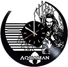 choma Vinyl Wall Clock, Aquaman, Wall Decor, Justice League, 2017, Home Decor, Xmas Gift, Vinyl Record, Pop Modern Wall Art, New Year Gift, DC Comics, Movie, Best Gift for Boyfriend, Handmade Clock