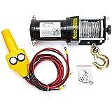 WQJJ Cabrestante eléctrico portátil 3000 Libras de Capacidad de Carga Polipasto eléctrico con Control Remoto para automóvil ORV Vehículos agrícolas ATV Automóviles Deportivos Yates12V
