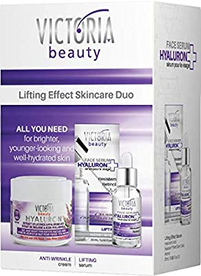 Victoria Beauty Super Lifting Pamper Skincare Gift Set – Day and Night Anti-Aging Face Cream Moisturiser 50ml and Lifting Serum 20ml, perfect for women aged 60 – 75 by Camco
