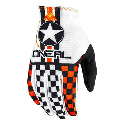 O'Neal Matrix MX DH Handschuhe Wingman Weiß Orange Motocross Downhill Mountainbike MTB, 0388W-1, Größe M