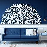 Media Mandala, pegatina de vinilo para cabecera de cama, decoración Zen, Lotus Mandala, calcomanía, estudio de Yoga indio, pegatina de estilo Boho, Mural A8 29X57CM