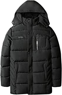 Men's Winter Coat Sale Casual Pocket Button Zipper Thicken Warm Hoodie Down Jacket