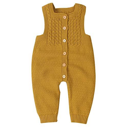 Haokaini, Babystrampler / Overall, unisex, gestrickt, ärmellos, für Neugeborene / Babys / Kleinkinder Gr. 6-12 Monate, Loess