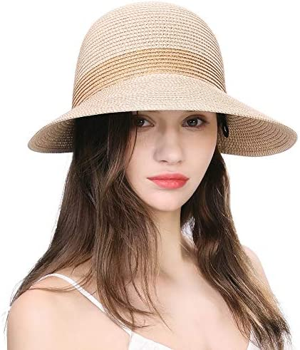 Comhats Summer Straw Sun Hat for Women Bucket UV Protection Beach Hunting Fishing Outdoors Ladies product image
