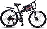 Bicicletas Eléctricas, Bicicletas rápidas y Eléctrica en adultos eléctrica plegable Bicicleta todo terreno, motos de nieve 350W, 36V extraíble 8AH de iones de litio para, Suspensión premium for adulto