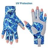 Tocawe Angelhandschuhe fingerlos UV-Schutz Sonnenhandschuhe Wasserdicht Outdoor Handschuhe für...