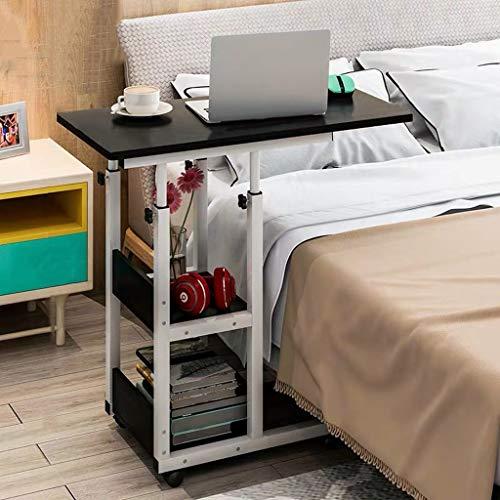Hoogte Verstelbaar Beweegbare Nachtkastje Computer Desk, Rolling Dienblad Tafel Met Swivel Casters, Mobile Bureau Winkelwagen For Thuis, Eten, Laptop, Reading (Color : D, Size : 80x40CM)