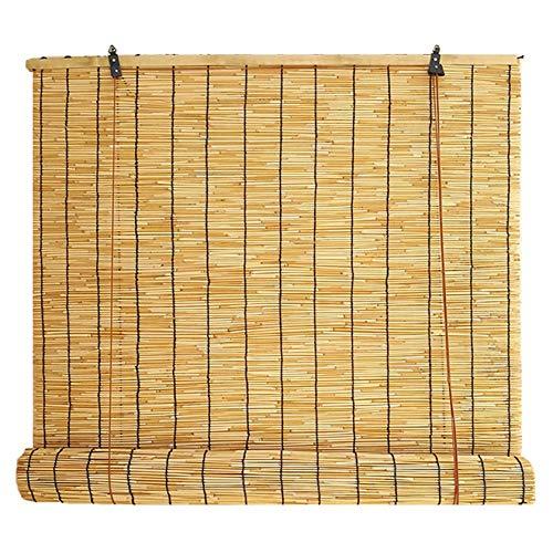 MY1MEY Persianas de caña de bambú, Estor Enrollable de Bambú Natural, Estores Plisadas Impermeables, Transpirables, duraderas,para Estudio, balcón, Sala de Sol, partición(105x200cm/42x80in)