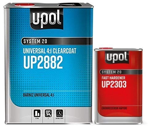 U-Pol 2882 Fast KIT Overall Clear Urethane CLEARCOAT Universal Clear 4:1 Fast KIT European Style CLEARCOAT w/NANOPARTICULATE Technology