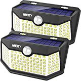Hmcity Solar Lights Outdoor 120 LED with Lights Reflector, Motion Sensor...