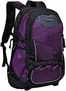 Backpack Outing Fashion Travel Laptop Bag, Casual Campus College Backpack (Color : Purple)