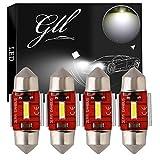 GLL 31MM C5W LED Canbus CSP 1860-1SMD 650 Lumens Pour Feux de Voiture à LED Ampoules de Plaque D'immatriculation Lumière de Stationnement Extérieur Pour Coffre Lumière Pour Dôme de Lumière (Lot de 4)