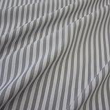 Stoff Meterware Bauernstreifen grau weiß Streifen