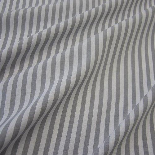 Tissu au mètre bauernstreifen gris blanc à rayures style voilage rayé