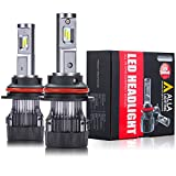 Alla Lighting S-HCR 9007 LED Headlight Bulbs Hi/Low Beam Conversion Kits Replacement 10000Lms Xtreme Super Bright DRL HB5, 6K Xenon White