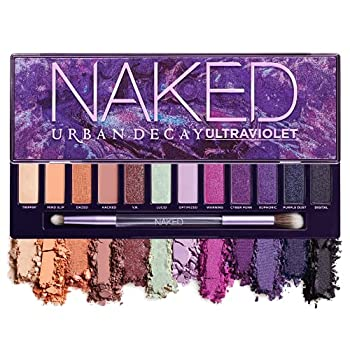 Urban Decay Naked Ultraviolet Eyeshadow Palette 12 Vivid Neutral Shades with Purple Pop - Ultra-Blendable Rich Colors with Velvety Texture - Set Includes Mirror & Double-Ended Makeup Brush