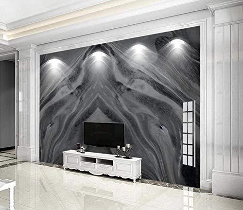 ZGHONG Dunkelgraues Marmor-Tapete, 3D-Fototuch, Papier, Papel de Parede Papier, gedruckt, wasserdicht, Wandbild, Heimverbesserung, 400 x 280 cm