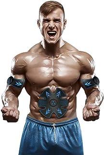 Cinturón Abdominal Para Entrenador De Abdominales, Estimulador Muscular EMS Con USB Recargable, Máquina De Entrenamiento De Gimnasio Para Tonificación De Cinturón Abdominal Para Hombres Y Mujeres