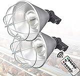 WSVULLD Lámpara de Calor para Cachorros, lámpara de Calor para Pollitos, lámparas de Calentador de calefacción de bruñidor de Invierno emisor de lámparas de Calentador con Control Remoto, Temperatura