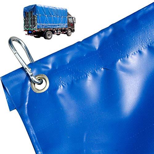 LJIANW-lonas impermeables exterior, Impermeable Lonas for Grande Camión Incluyendo Cuerda Y Gancho Fácil De Instalar Superior Y Lateral, A Prueba De Viento A Prueba De Polvo 5 Tamaños