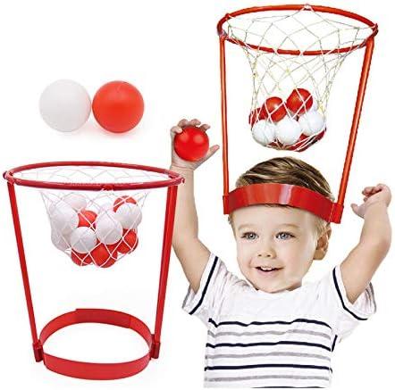 Srenta Mini Basketball Headband Hoop Game, Basketball Party Game