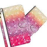 COTDINFOR Nokia 2.2 Hülle 3D-Effekt Painted cool Schutzhülle Flip Bookcase Handy Tasche Schale mit Magnet Standfunktion Etui für Nokia 2.2(2019) Gradient Colorful YX.