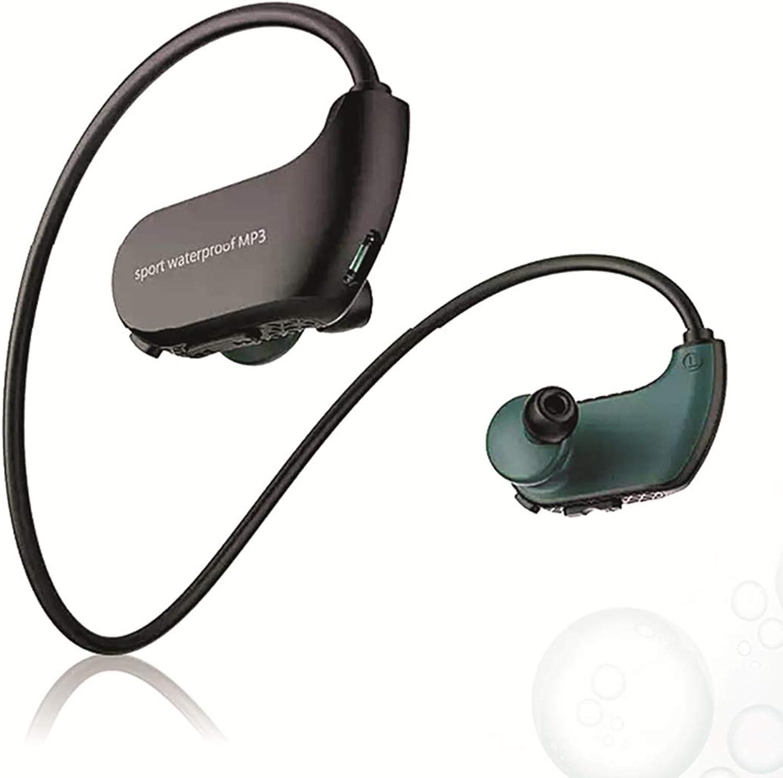 L@ily Wasserdichter MP3-Player Schwimmen, 8 GB Wasserdichter MP3-Player Drahtlose Kopfhrer zum Schwimmen Laufen Training