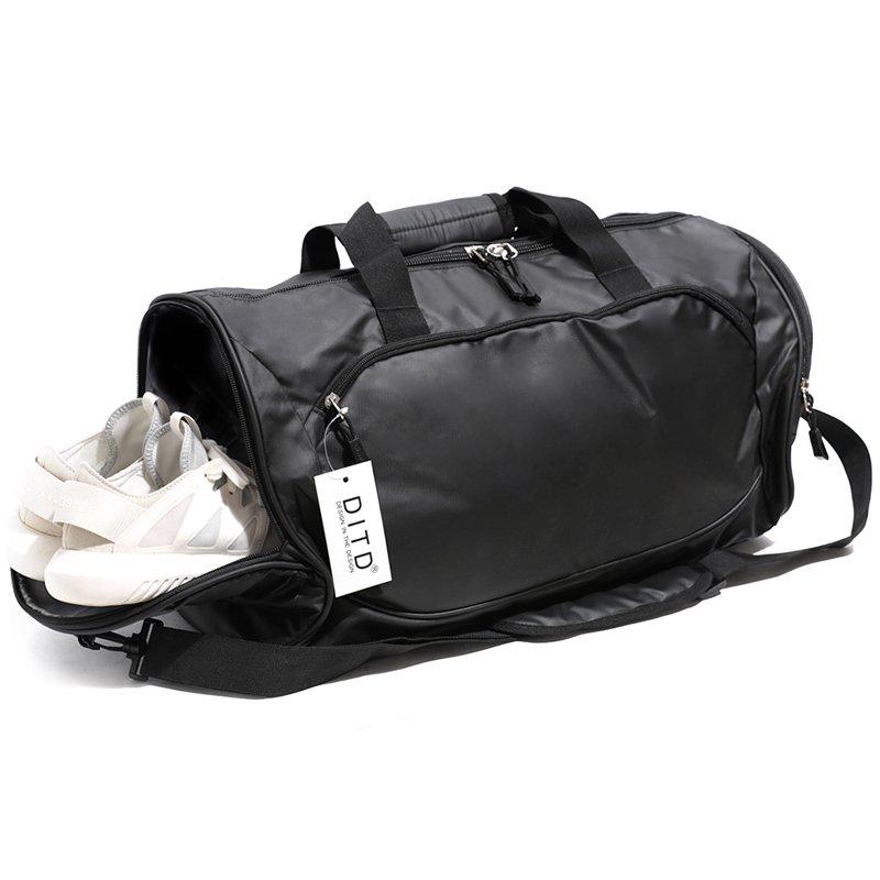 DITDフィットネスバッグメンズスポーツバッグトレーニングバッグラゲージバッグ近距離トラベルバッグポータブルヨガバッグ女性のショルダーバッグ搭乗バッグ独立した靴ブラックYC339(ラージ、ブラック)