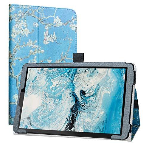 Labanema Funda para Lenovo Smart Tab M8,Slim Fit con Función de Soporte Folio Case Cover para 8' Lenovo Smart Tab M8 / Lenovo Tab M8 HD(2nd Gen)(TB-8505FS)(Not fit Lenovo Tab M8 FHD) - Almond Blossom