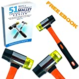 Exclusive BlemishFree Jewelry Hammer with Heavy-Duty Non-Slip Fiberglass Handle – Robust Dual-Head Mallet For Leather, Wood & Firearm Maintenance – Medium