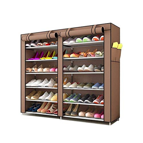 Diaod Simple Zapato del hogar del Estante, la Sala Multi-Capa a Prueba de Polvo de Zapatos Forrada-Doble Cabina de almacenaje con Cierre de Cremallera Zapatero Bastidor de Arranque