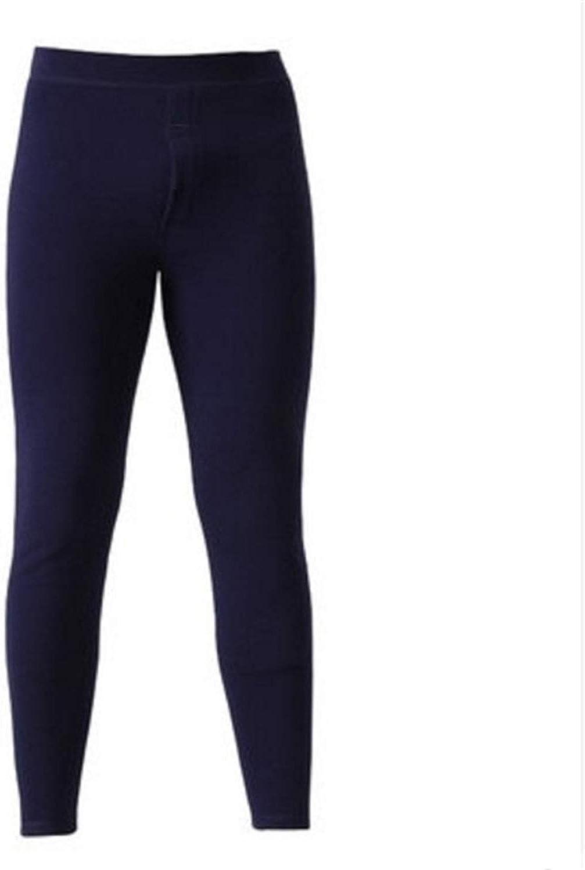 Thermal Underwear for Men Winter Long Thick Fleece Leggings wear in Cold Weather,Navy Blue,XXL(54-64kg)
