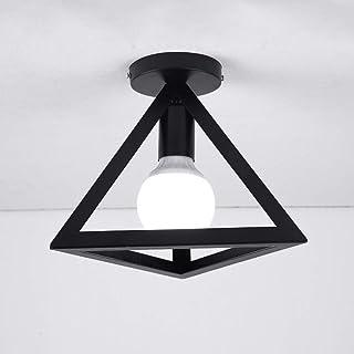Mengjay Retro Colgante Iluminación Lámparas de Techo Industrial Colgante de Luz, Vintage Industrial Triángulo Metal Pantalla de la Lámpara Para la Cocina, Dormitorio, Habitación, Salón