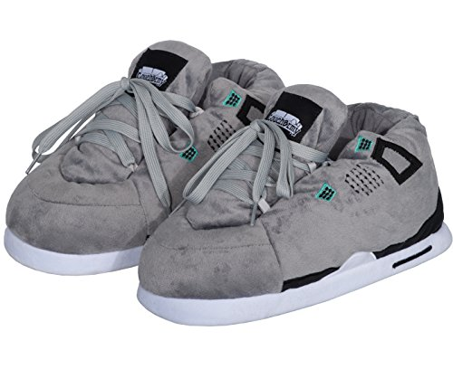 Coucharmy Jay Four Hausschuhe Home Sneakers (S-XL) (M=40-42, Grey/Black)