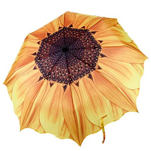 Paraguas compacto de girasol marco a prueba de viento reforzado paraguas portátil resistente de secado rápido