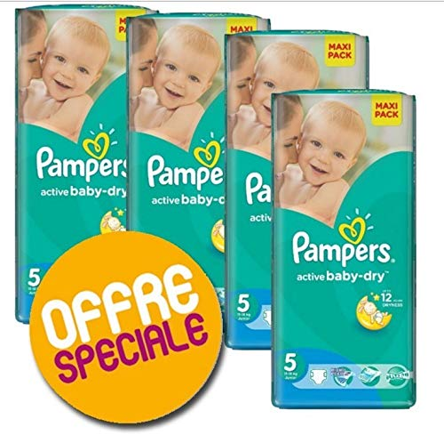 Couches Pampers - Taille 5 active baby dry - 220 couches bébé