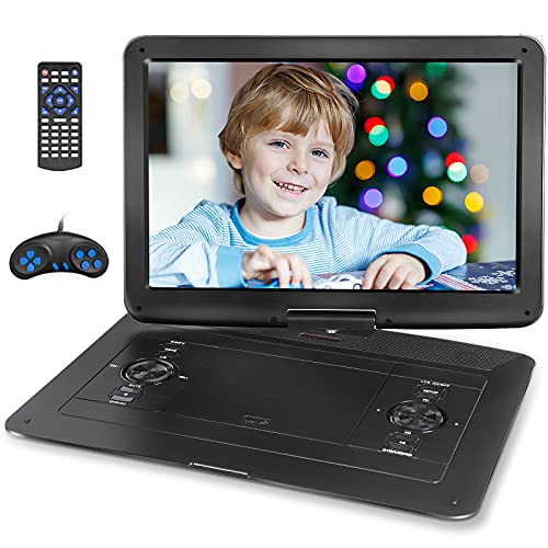 Jekero 17.9' Portable DVD Player with 15.6' HD Swivel Screen, PersonalDVDPlayer with 5 Hrs Rechargeable Battery, MobileDVDPlayer for Kids, Home, Sync to TV, Support USB/SD & Multiple Disc Formats