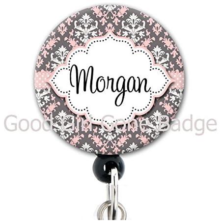 Personalized Name Camo Pink Nurse Teacher Badge Reel Retractable Badge Holder