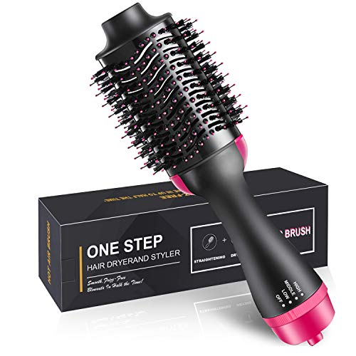 JOYJULY Hair Dryer Brush,Hot Air Hair Brush 4 in 1 Electric One Step Hair Blow Dryer Comb Volumizer with Negative Ions for Hair Dryer, Styling, Curler Straightener