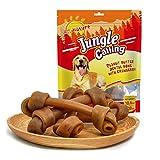 Jungle Calling Comida Perros, Golosinas para Perros Comida Seca para Perros Sticks Dentales Perro Deseño del Nudo Sabor a arándano 300g