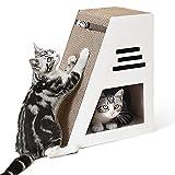 PETTOM Rascador para Gatos, Soporte de Descanso con Bola de Campana de Juguete, Rascadoras de Cartón para Cama y Sofá Almohadillas Rascadores para Gatos