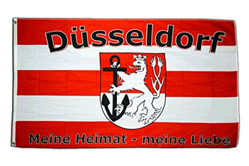 Flaggenfritze Fahne/Flagge Düsseldorf Meine Heimat - Meine Liebe + gratis Sticker