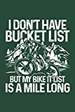 Mile long bike it list: Notebook for MTB Mountainbike Mountain-Biker BMX Biker-s 6x9 lined with lines