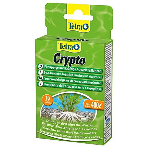 Tetra Crypto Düngetabletten (für üppige und gesunde Wurzelbildung der Wasserpflanzen im Aquarium), 10 Tabletten