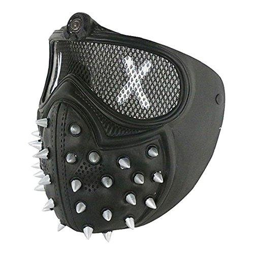 keland Watchdogs 2 Masken Schraubenschlüssel halbe Gesichtsmaske für Halloween Cosplay Party